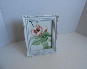 Vintage framed shabby chic wallpaper pink floral