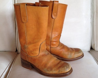 Vintage mens leather boots size 9