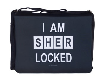 Sherlock Large Messenger/Laptop Bag: I Am Sherlocked