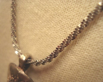 Butterfly Sterling Silver Rhodium Plated Chain Necklace