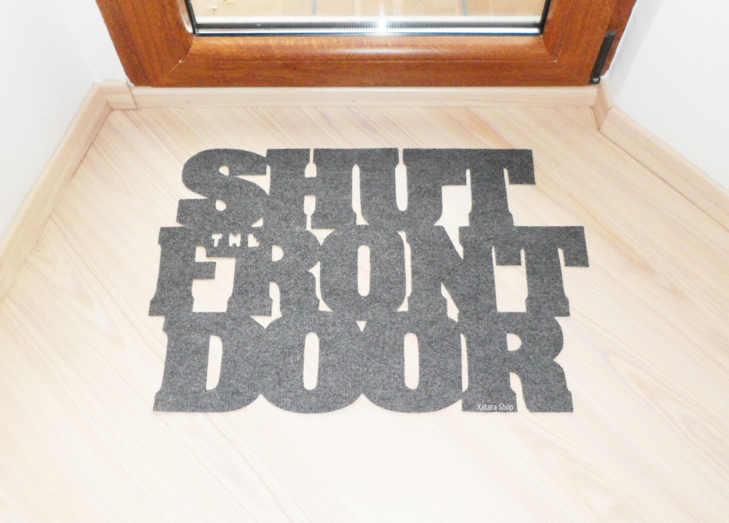 floor mat shut the front door original doormat. Black Bedroom Furniture Sets. Home Design Ideas