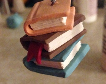 Stack of Books Charm
