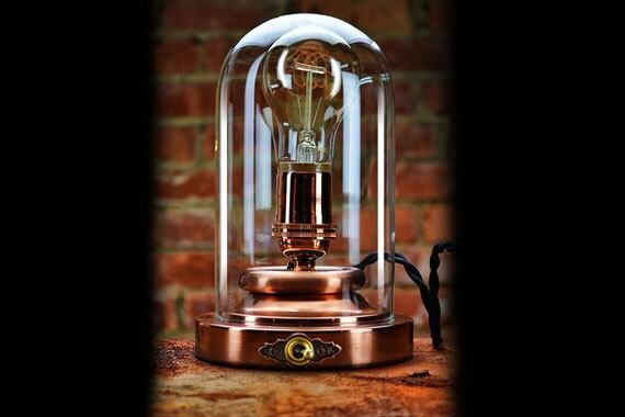 Steampunk Lamp Edison Light Copper Dome Light