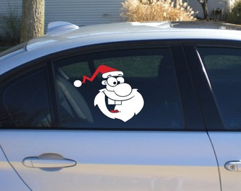 StickTak Stickers Santa - Christmas Holiday Season Xmas Car Vinyl Decal ST1121