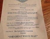The Great White Way Silent Movie Program - 1924
