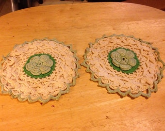 Hand Crocheted Trivets
