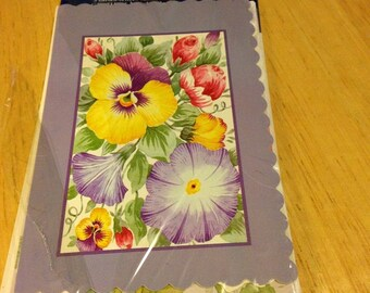 Flower Blank Note Cards - Set of 3