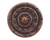 2 Gladiator 1 inch ( 25 mm ) Dill Metal Buttons Antique Copper Color