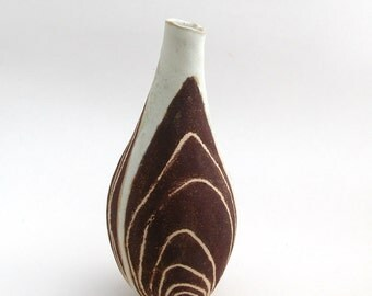 burgundy brown bottle vase