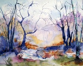 Spring Thaw in Vermont-Watercolor Print