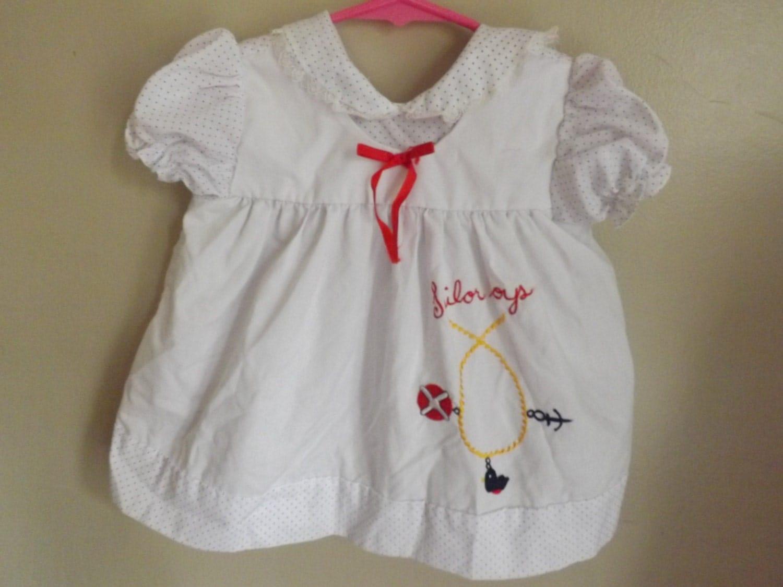 Vintage Kids Clothes Vintage Baby Dress Sailor Dress