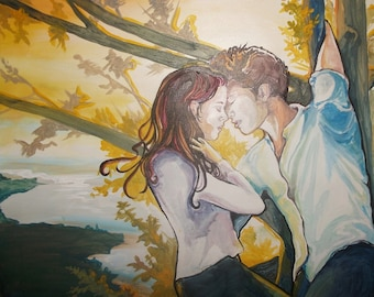 Before You, digital download, Bella and Edward Twilight Art,  jpeg 2MB, Twilight Saga fantasy art