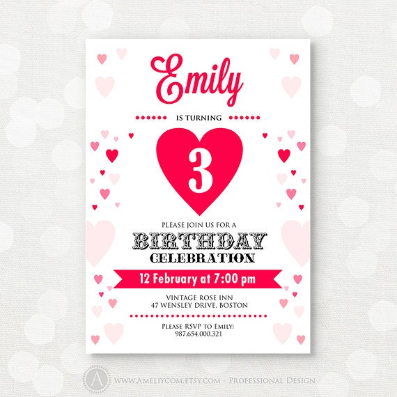 Girl Birthday Invitation Printable