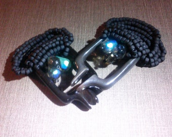 custom ear weights; horn base with your choice of color scheme and material