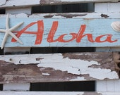 Aloha Wood Sign