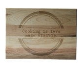 Christmas Gift Personalized Cutting Board 10x14 Maple Custom Laser Engraved