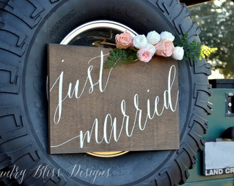 Wedding Car Sign, Just Married Sign, Wedding Just Married Sign, Getaway Car Sign, Getaway Car Ideas, Wedding car Decor