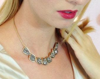 Druzy Statement Collar Necklace