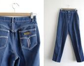 Vintage Gitano Jeans - High Waisted Denim Jeans - Medium Blue Wash - Great Wear - 90s Jeans - Tapered Leg - Waist 26