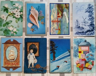 Vintage Blue Playing Cards Lot Collection No.2