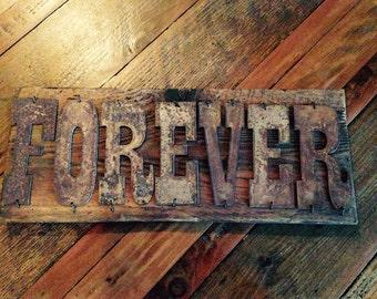 FOREVER - Reclaimed Wood Sign