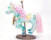 Vintage CAROUSEL HORSE • 90s Herrington American Carousel Classics Soft Plush Horse