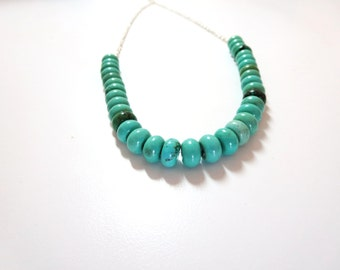 sale  Blue  Beaded Necklace- Turquoise Necklace