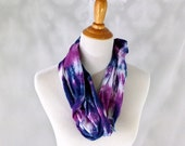 Hand Dyed Brushed Jersey Cotton Infinity Scarf