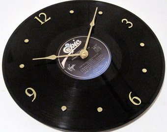 CULTURE CLUB Vinyl Record Clock - Kissing to be Clever - Upcycled - Boy George
