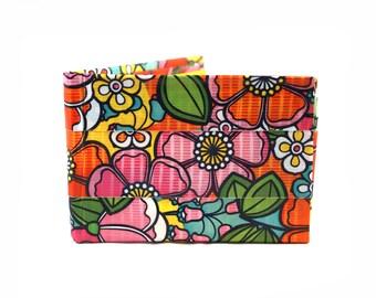 Wildflower Duct Tape Wallet