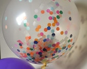 "You Pick COLORS -Clear Confetti 36"" Balloon-Tissue Paper - ANY COLOR you choose"
