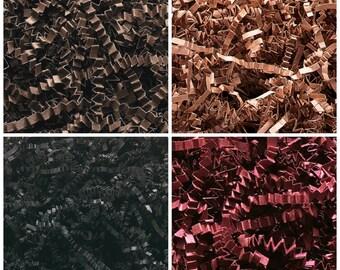 Crinkle Cut Paper Shred- Basket Filler- Black, Brown, Burgundy or Kraft Natural
