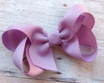 Lavender boutique bow - light purple bow, purple bow, baby bow, toddler bow