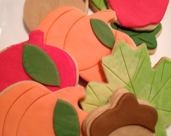 Thanksgiving Sugar Cookies,1 dozen  Thanksgiving Cookies, Fall Cookies, Thanksgiving Cookies