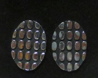 Large vintage cuff links silver tine MOD