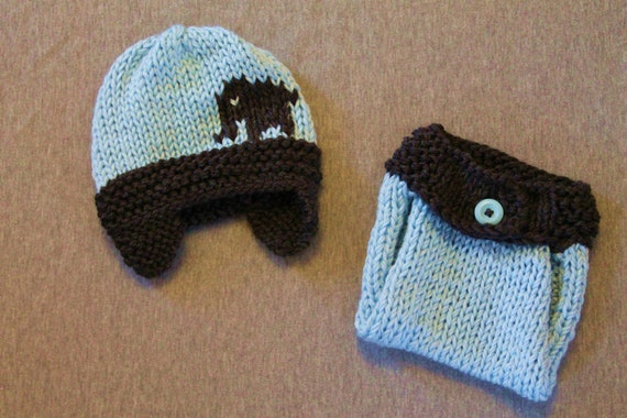 Knitting Pattern For Elephant Hat : Knit Crohet Elephant hat for boy or girl with by Knits4Noggins