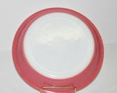Vintage Pyrex Pink Flamingo Pie Plate, Fired on Color, Pyrex 909, 9 Inch Pie Dish, Mid Century, Shabby Chic Decor