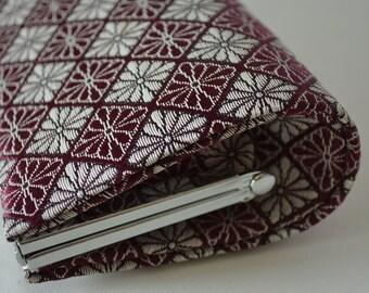 Silk brocade clutch purse, 1970s vintage Japanese handbag