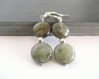 Labradorite Earrings, Labradorite Gemstone Earrings, Labradorite Drop Earrings, Natural Gemstone Earrings, Earrings Gemstone, Earrings Gift