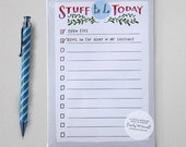 Stuff To Do Today Notepad