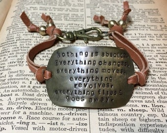 Everything Changes Frida Kahlo Inspired Bracelet