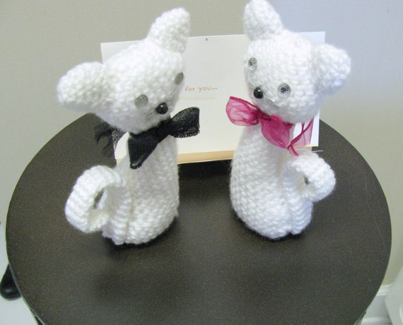 Cake The Cat Amigurumi : Cats amigurumi Couple Cats male and female Wedding Cake