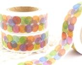 Colorful, Rainbow Dots Washi Tape - W1202