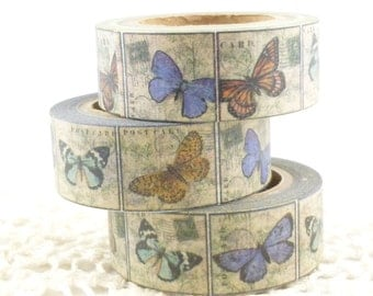 Vintage Stamp Butterfly  Washi Tape - L873
