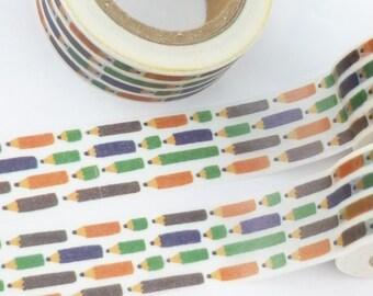 Color Pencil School  Washi Tape - F1024