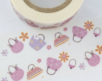 Pink Purse Handbag  Washi Tape - F1264