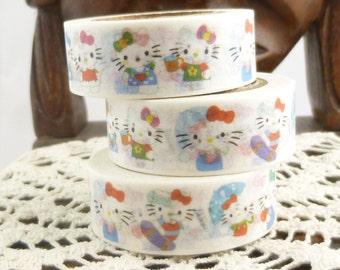 Colorful Cute Kitten Washi Tape - S908