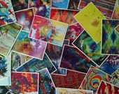50 Postcrossing Art Postcards - Free Shipping