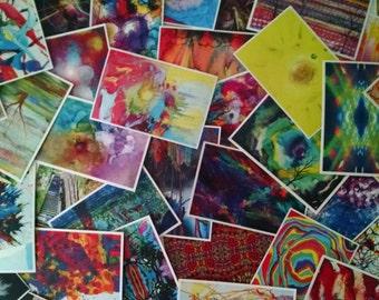 50 Postcrossing Art Postcards - Free Shipping