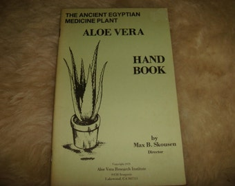vintage 1979 Guide To The Ancient Egyptian Medicine Plant Aloe Vera Hand Book